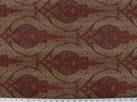 Drapery Upholstery Fabric Chenille Damask Design