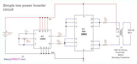 simple inverter circuit  cd  uln