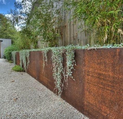 corten retaining wall corten steel retaining wall gabion1 australia