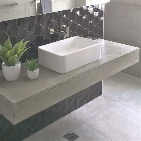 bathroom vanity polished concrete floating vanity custom made just Concrete