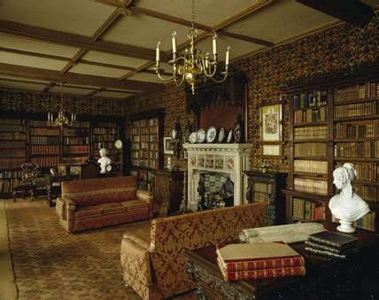 view   fireplace  library  victorian style
