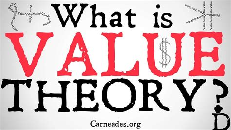What Is Value Theory? (axiology And Theory Of Value) Youtube