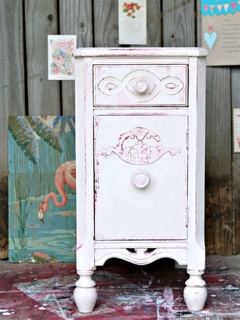 painting furniture white shabby chic shabby chic pink and white paint layers for furniture petticoat junktion