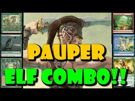 mtg budget elf combo pauper deck tech travis woo youtube
