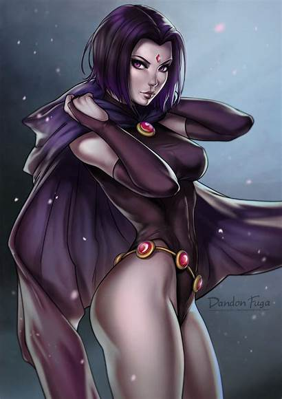 Tight Raven Teen Titans Fuga Cape Purple