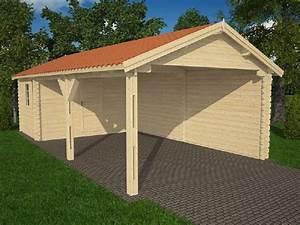 Abris De Terrasse En Kit : abri voiture avec atelier en kit robinier 44mm ~ Dailycaller-alerts.com Idées de Décoration