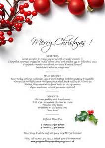 christmas menu the george and dragon pub dragons green