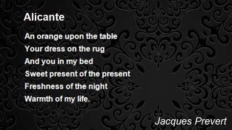 alicante poem  jacques prevert poem hunter