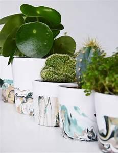 Basteln Mit Nagellack : marmorieren mit nagellack ein stylisches blumentopf diy awesome crafty diy inspirations ~ Somuchworld.com Haus und Dekorationen