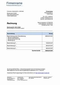 Rechnung Schreiben Mit Excel Rechnung Umsatzsteuerfrei Vorlage