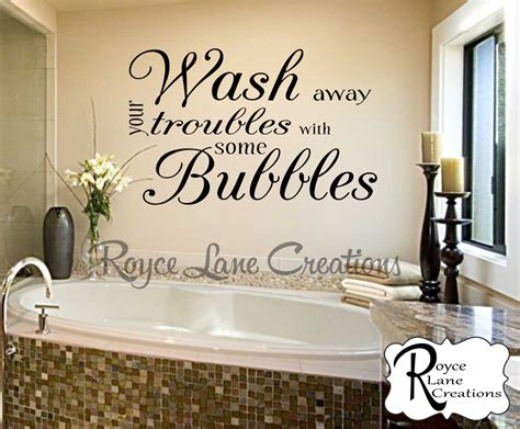Bathroom Wall Decor Wash Away Your Troubles With Some
