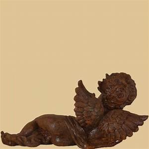 Gartendeko Auf Rechnung : liegender engel rost mit vogel garten passion ~ Themetempest.com Abrechnung