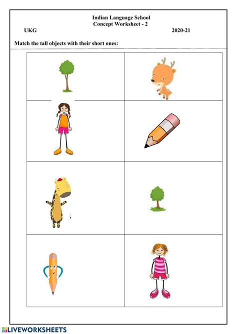 pre math concepts interactive worksheet