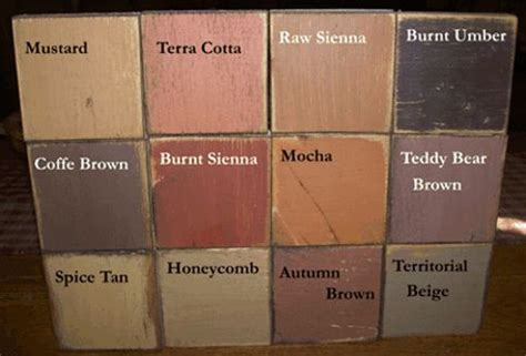 Primitive Sign Signs Primitive Shelf Sitters Color Chart