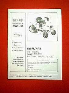 Sears Craftsman Rear Engine 10hp 30 U0026quot  Riding Mower Model