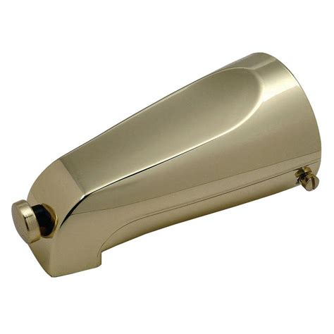 polished brass tub spout brasscraft mixet 5 1 8 in quikspout diverter tub spout in