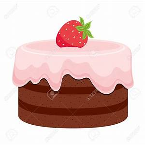 Chocolate clipart strawberry cake - Pencil and in color ...