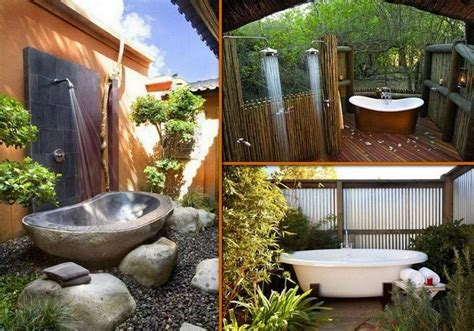Outdoors Bathroom : Outdoor Baths And Showers