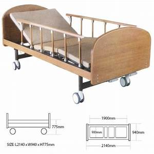 Medical Wooden Medical Hospital Beds Double Cranks With