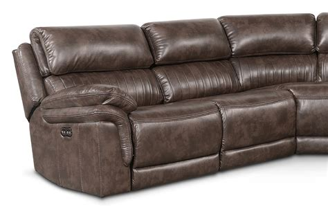 Sectional With Recliners by Monterey 5 Power Reclining Sectional With 2