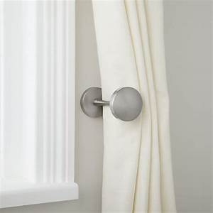buy john lewis curtain holdback brushed steel john lewis With how to install curtain holdbacks
