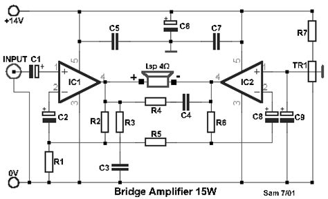 Bridge Amplifier Circuit Diagram