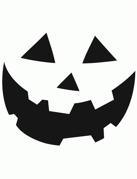 Happy Face Pumpkin Carving Template
