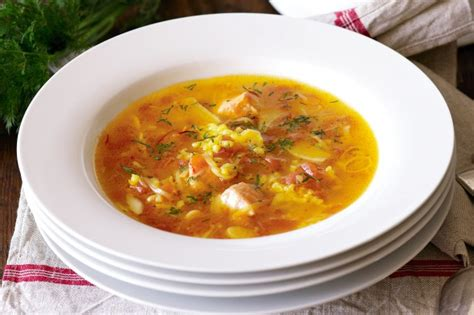 fish soup  orange saffron  dill recipe tastecomau