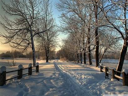 Country Winter Desktop Theme Road Snowy Scenes