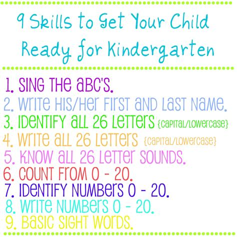 9 skills to get your child ready for kindergarten bonnie 810 | 9 skills for kindergarten