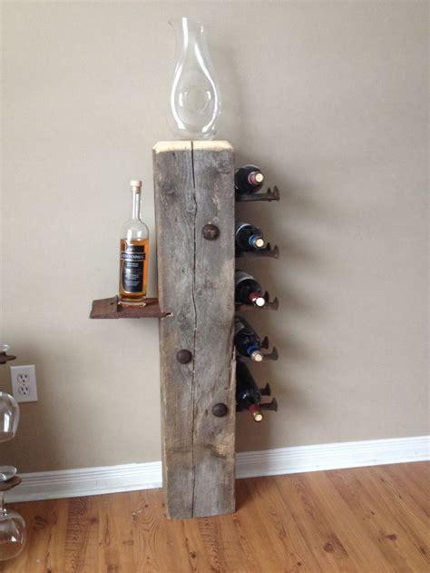 barn beam wine rack railroad spikes railroad spike art