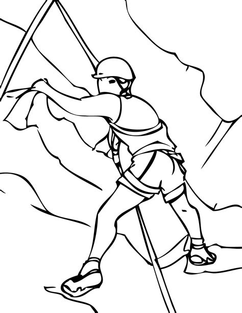 Kleurplaat Klimmen by Rock Climbing Coloring Pages And Print For Free