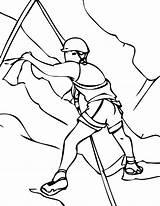 Climbing Rock Escalando Homem Coloring Rocha Desenho Colorir Montanha Alpinista Drawings Sketch Tudodesenhos Belay Valente Xtreme Imprimir Template sketch template