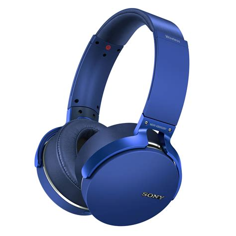 Headphone Sony Bass Biru sony mdr xb950b1 wireless ear headphones with mic and