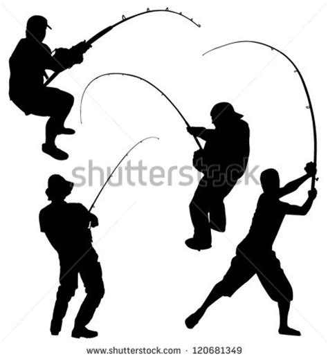 fisherman silhouette vector fisherman silhouette stock images royalty free images