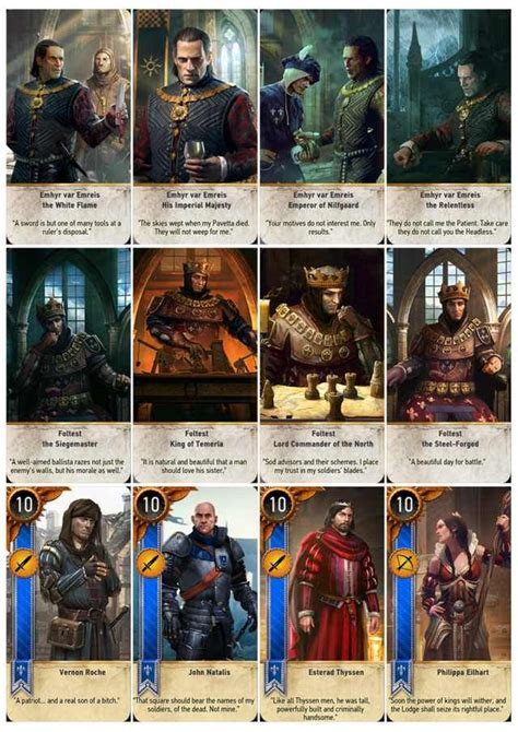 gwent cards  printable  sheets playing cards design