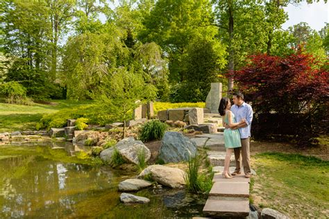 Brookside Gardens Engagement  Silver Spring Maryland