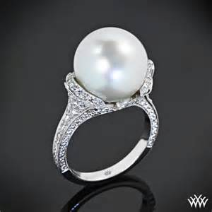 pearl engagement rings with diamonds pearl engagement rings