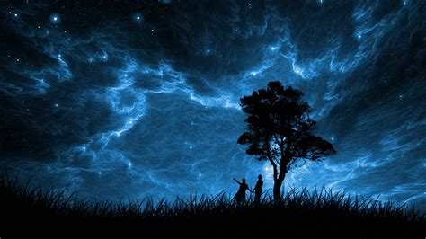 couple  magical sky hd wallpaper background image