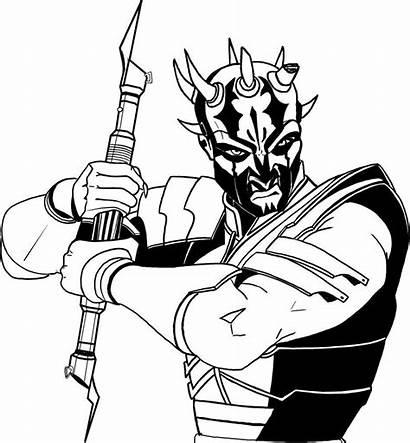 Savage Wars Star Opress Maul Darth Coloring