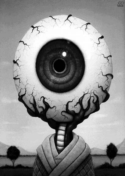 Creepy Surreal Dark Eye Trippy Strange Weird