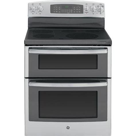 electric range smooth ge oven double ovens element stove lower dual standing griddle bridge cooking power cleaning stainless self steel