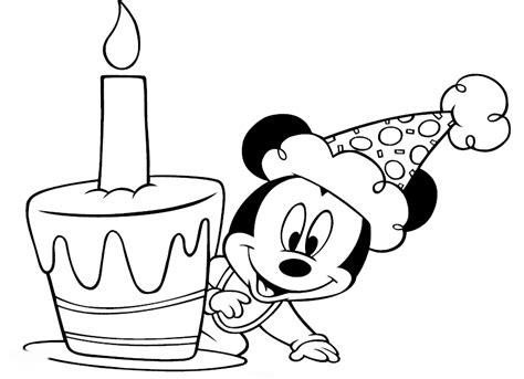 Mickey Mouse para colorear cumpleaños Imagui