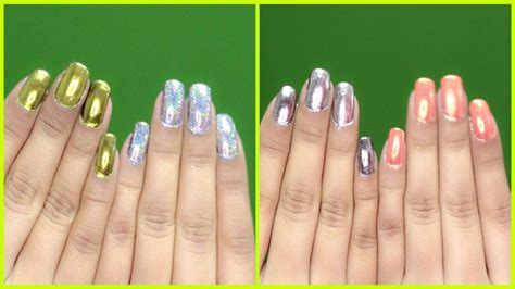 gel nail without uv light chrome nails without uv l on regular gel nail