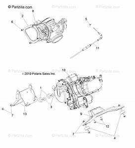Polaris Side By Side 2013 Oem Parts Diagram For Engine  Mounting  All Options
