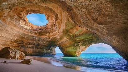 Cave Sea Landscape Nature Desktop Wallpapers Backgrounds