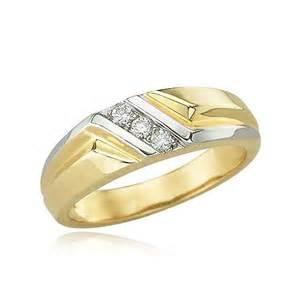 Diamond Wedding Band Men Gold Rings