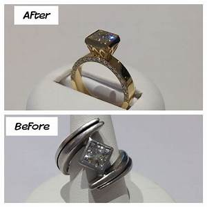 Before and after ring redesign hot off the bench for Ideas for redesigning wedding rings