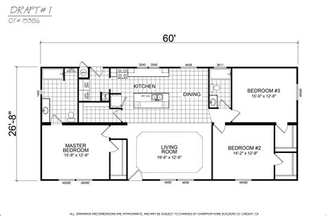 champion california  bedroom manufactured home pirak ranch   model cma