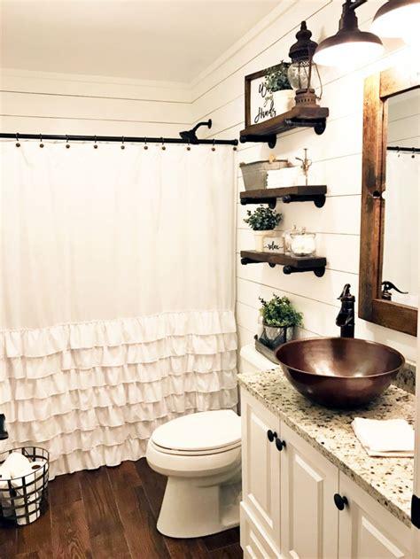 farmhouse bathroom ideas  small space roundecor